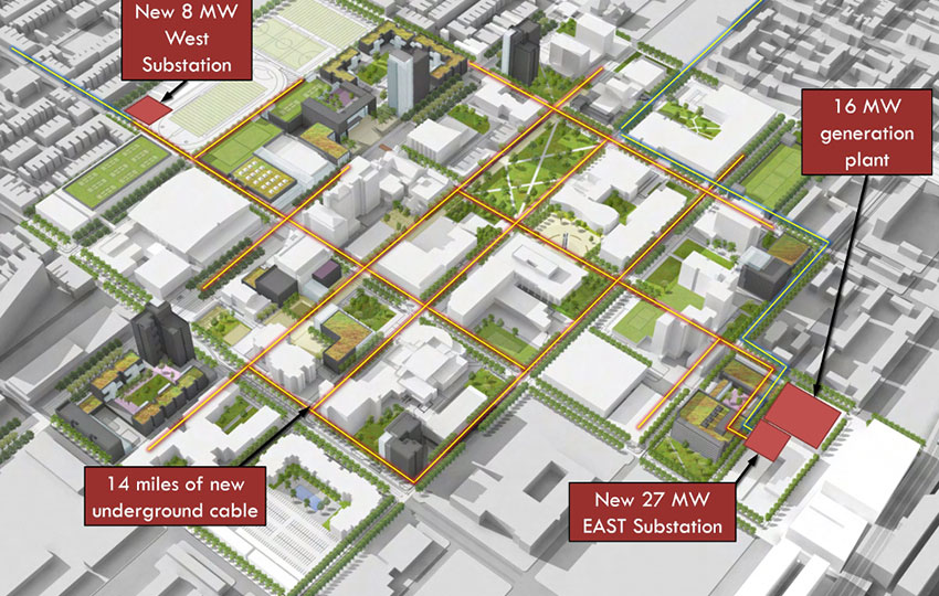 Temple University Microgrid Campus Electrical Infrastructure