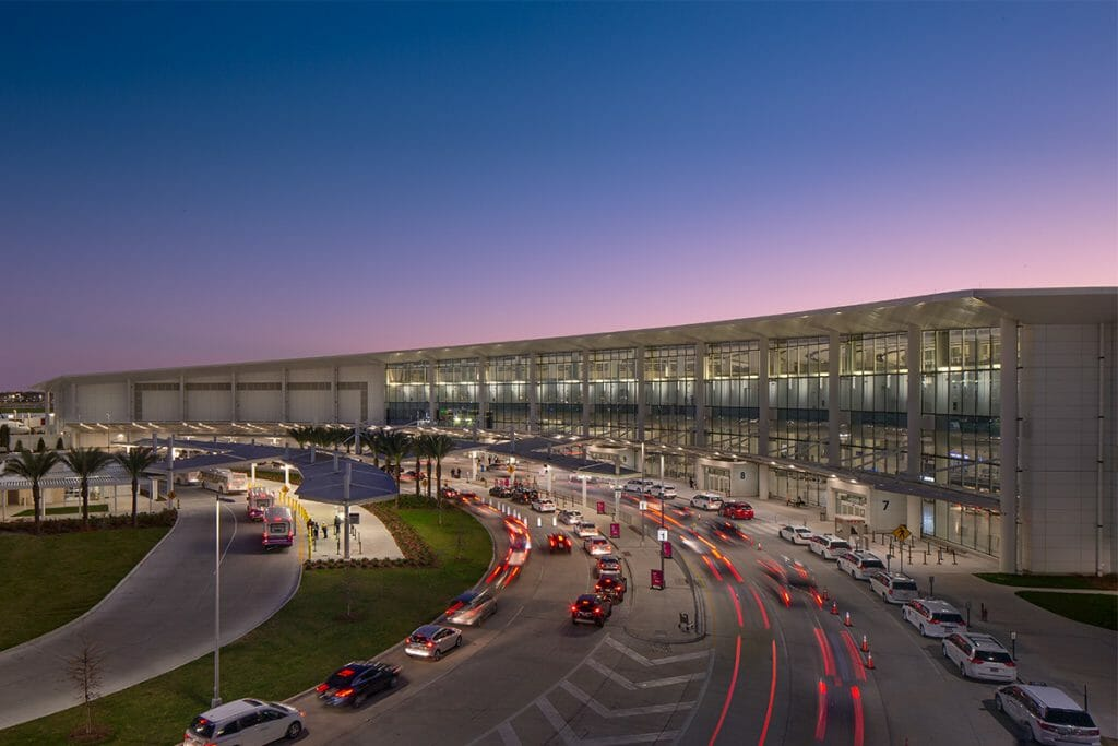Louis Armstrong New Orleans International Airport New Terminal exterior