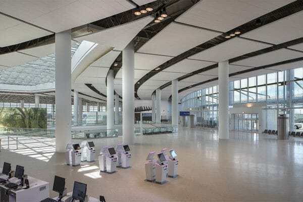 Interior View New North Terminal at Louis Armstrong New Orleans International Airport (MSY)