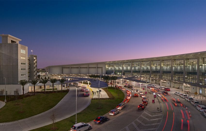 Exterior View New North Terminal at Louis Armstrong New Orleans International Airport (MSY)