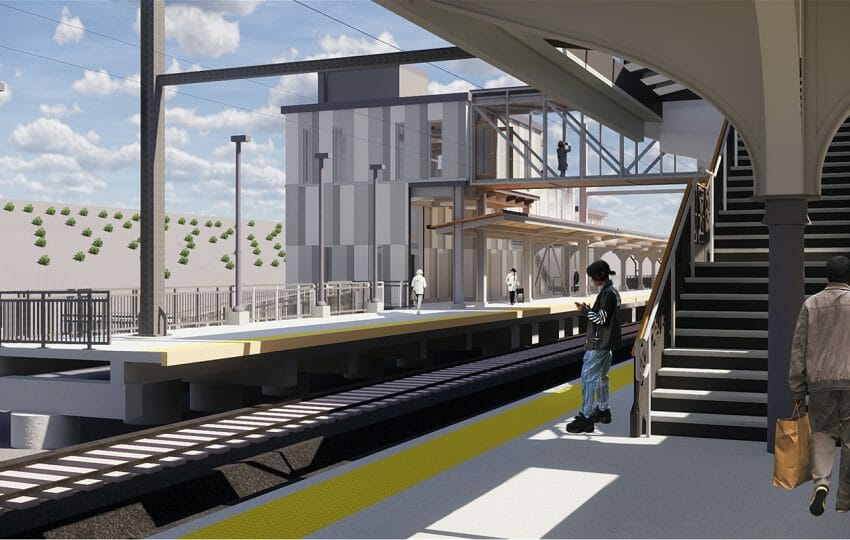 Amtrak - Baltimore Penn Station   Platform 4 Looking South at Headhouse   Image Credit: JacobsWyper Architects