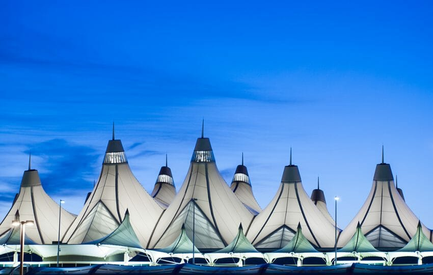 Denver International Airport - Glowing tents of DIA at sunrise