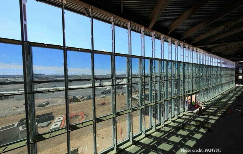 Photo of redevelopment of Terminal One at Newark International Airport