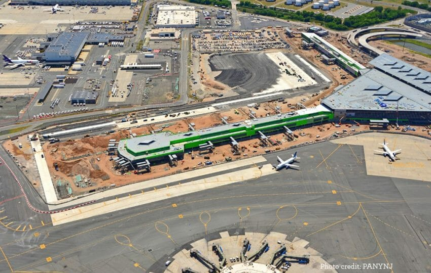 Aerial view of Newark Airport Terminal One