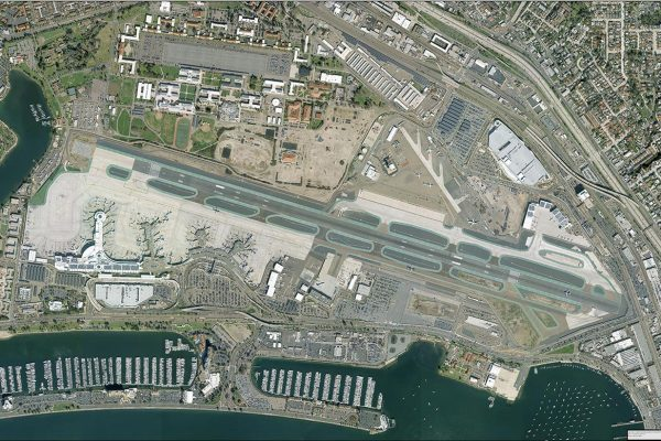 Aerial Photographic View San Diego International Airport