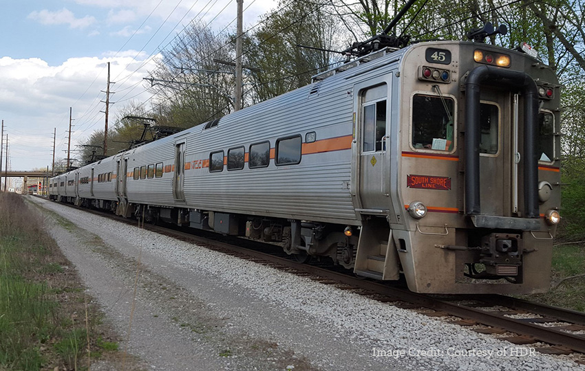 South Shore Line view of train