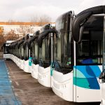Line of busses - Fleet Electrification